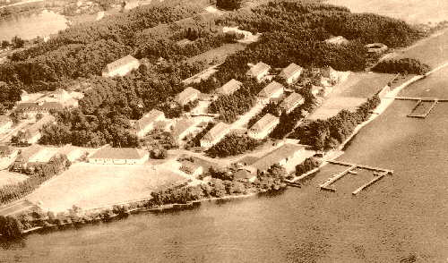 Sepia Photo: Aerial view of KAS
